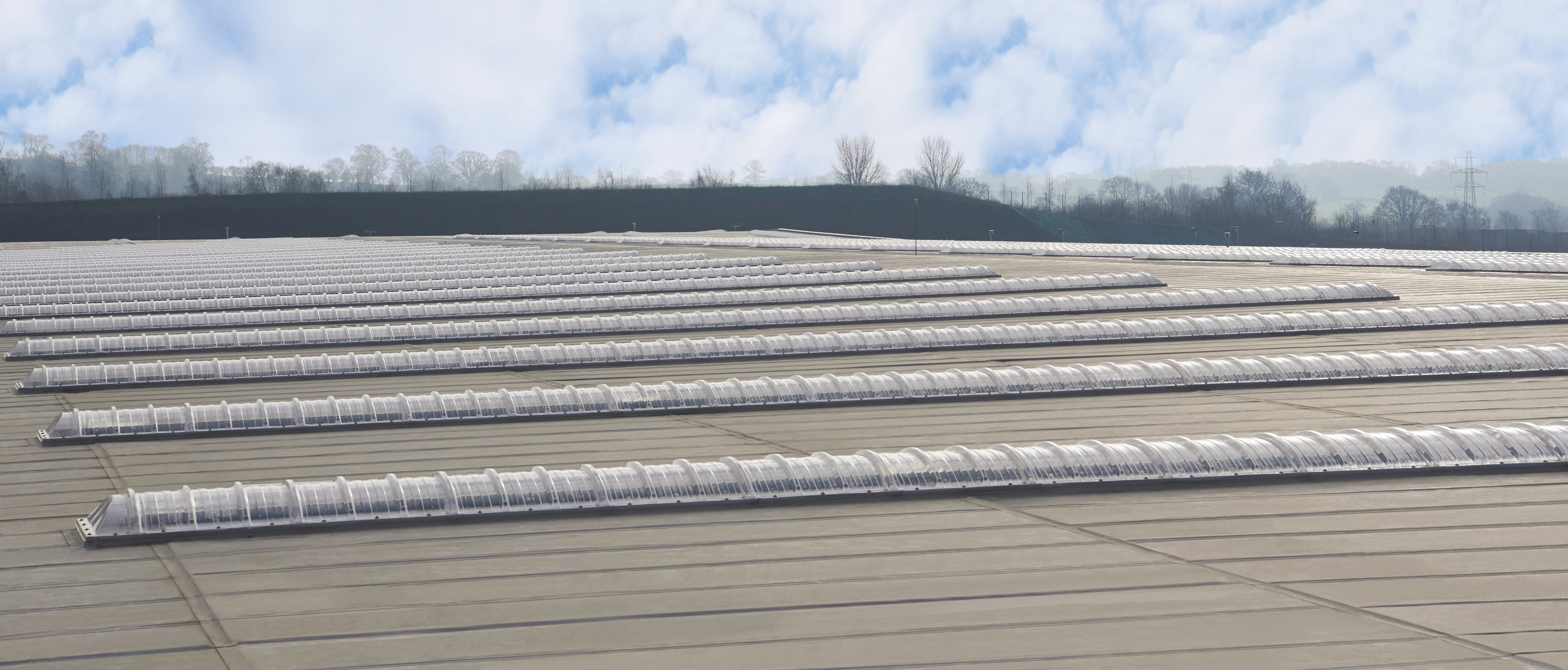 Topdek flat roof panel system