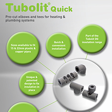 Tubolit Quick - Pre-cut elbows and tees for heating & plumbing systems
