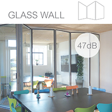 Type G200 Glass folding wall