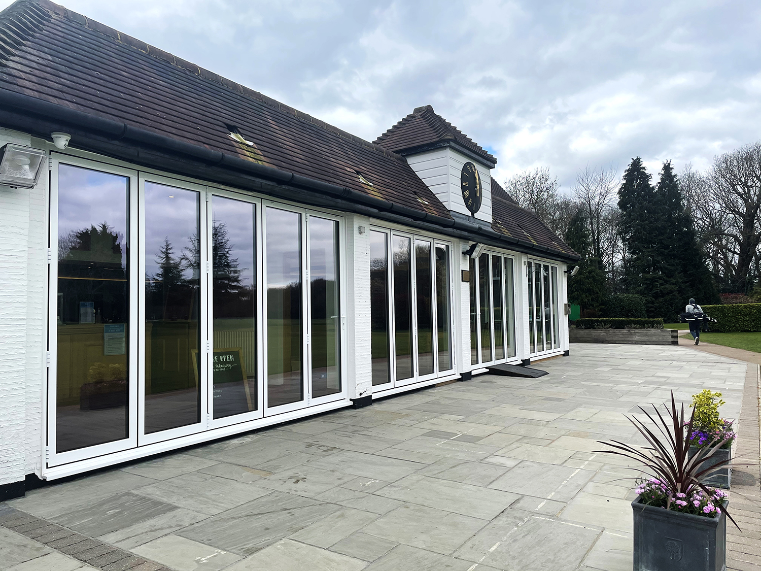 West Herts Golf Club's new BSF70 bi-fold doors provides stunning views