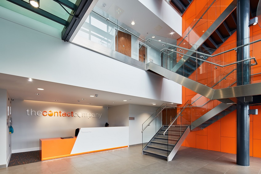 Orange Armstrong Ceilings for Wirral Waters