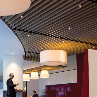 Hunter Douglas Wood Ceiling Offers More Relaxed Ambience