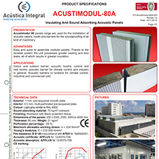 ACUSTIMODUL-80A Insulating And Sound Absorbing Acoustic Panels