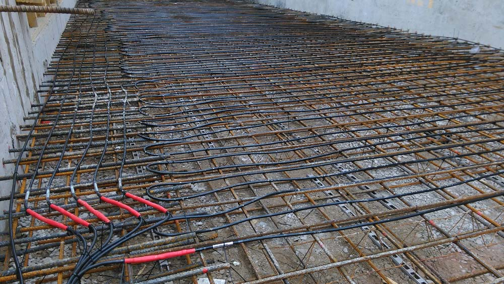 Heated Driveway Cables at elegant Barnes residential development
