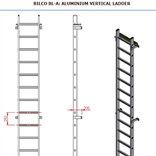 BL-A Fixed Vertical Ladder Submittal Drawing