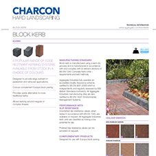 Block Kerb Tech Data Sheet