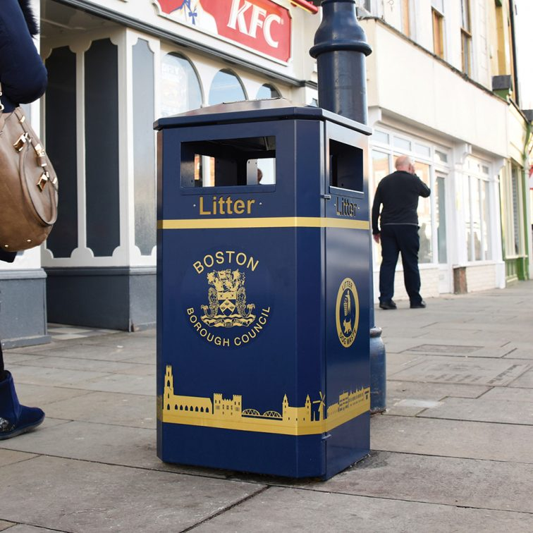 Derby Standard Bins reduce waste for Boston Borough Council