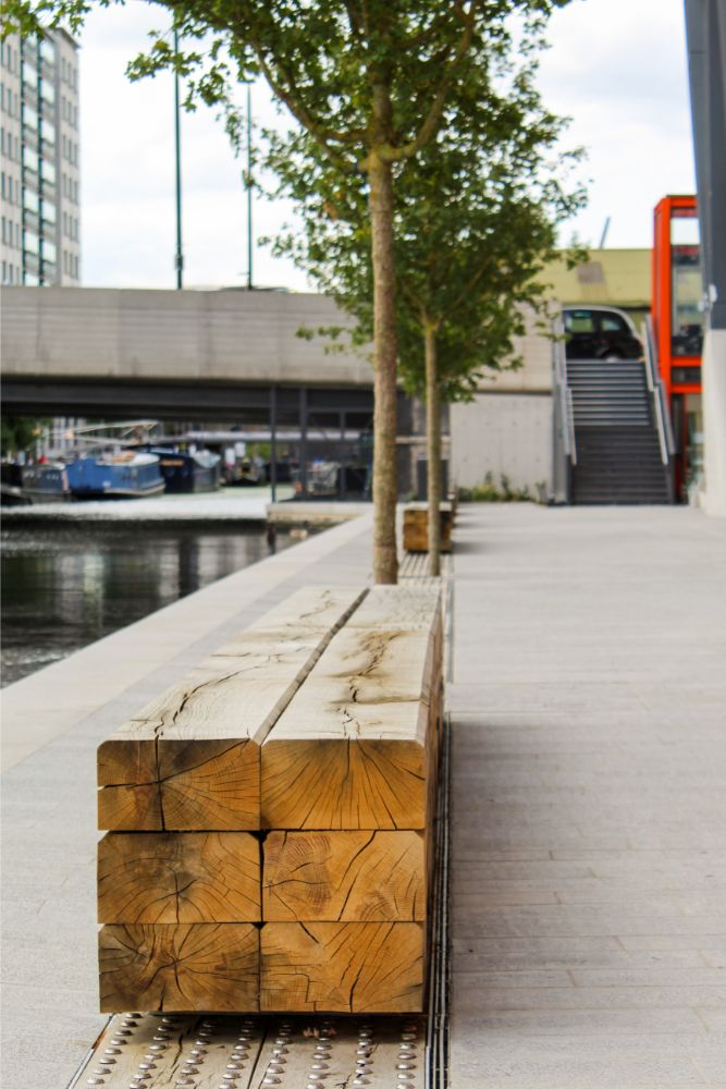 Bespoke external furniture adds modernity to The Brunel Building
