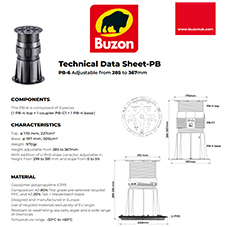 Technical Datasheet PB6 285-367mm