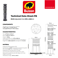 Technical Datasheet PB10  675-830mm
