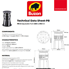 Technical Datasheet PB5 230-315mm