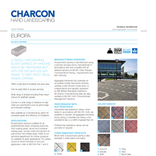 Europa Block Paving Tech Data