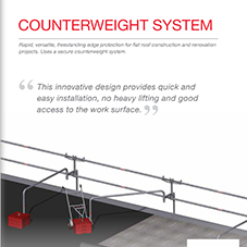 COMBISAFE Counterweight Flyer - Freestanding Edge Protection for flat roofs.