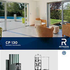 CP 130 beautiful aluminium sliding door