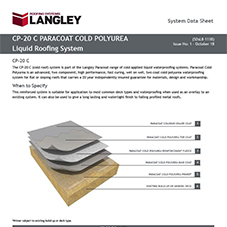 CP-20 C Paracoat Cold Polyurea Liquid Roofing System Data Sheet