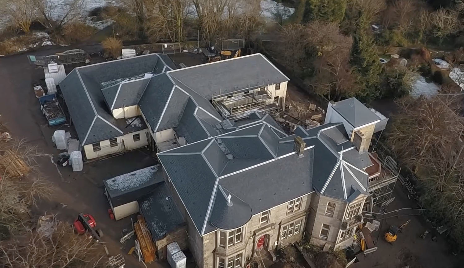 CUPA PIZARRAS luxury roofing for a listed building in Helensburgh