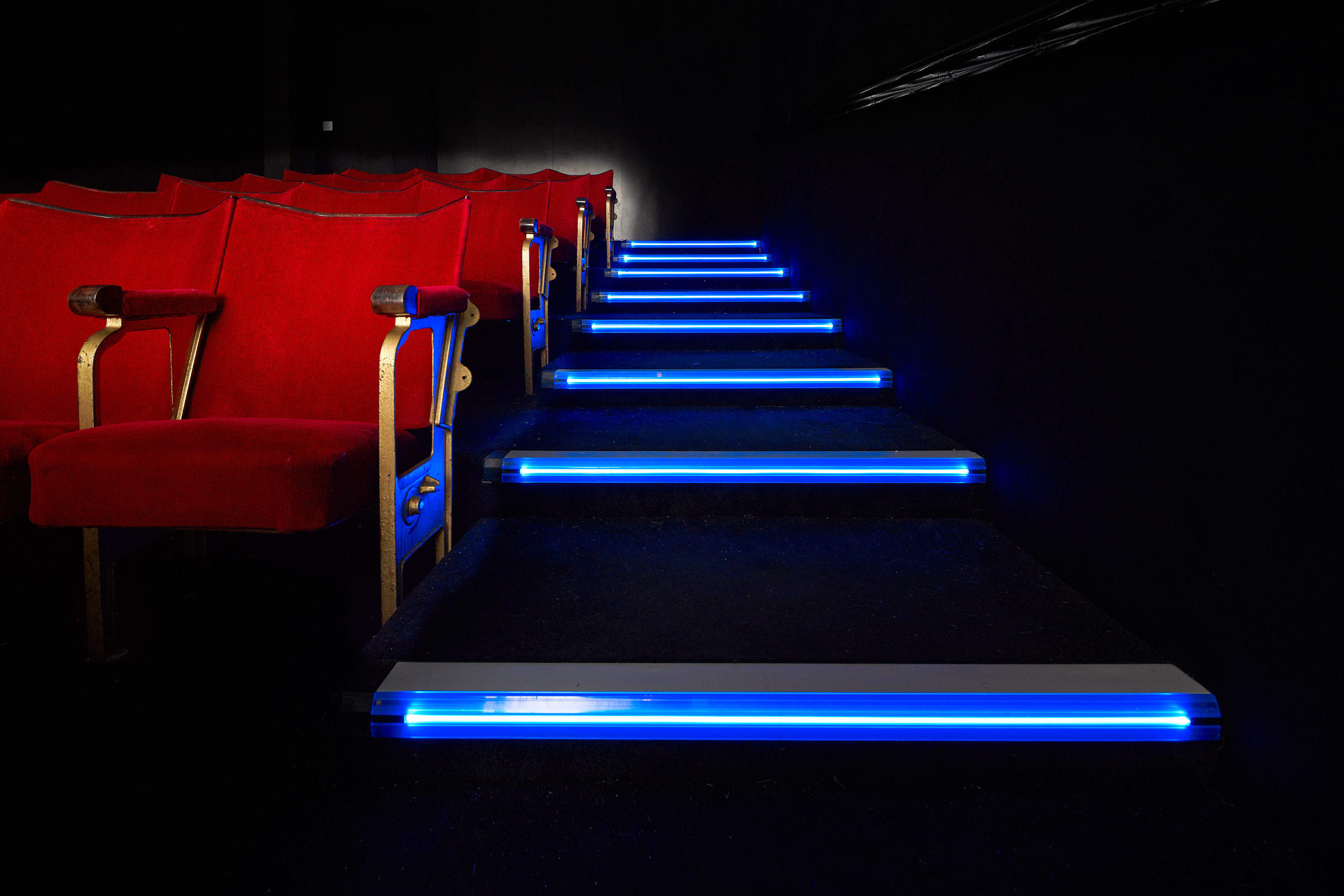 Led Stair Edgings For A Custom Built Theatre