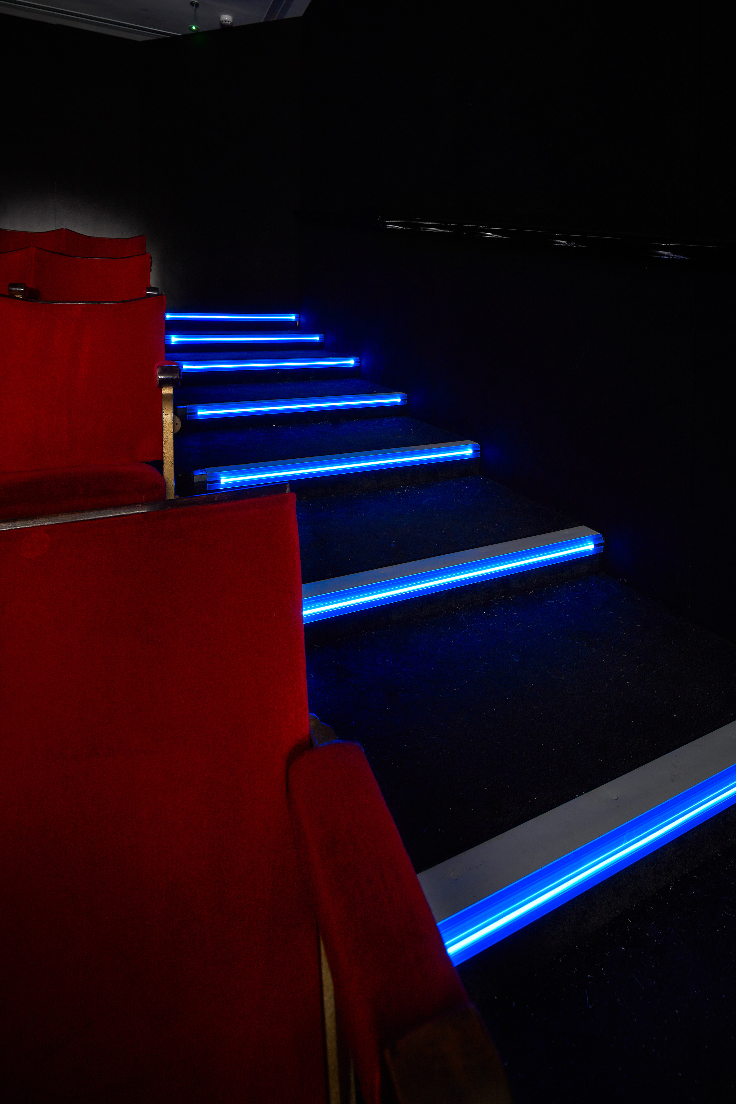 LED stair edgings for a custom-built theatre