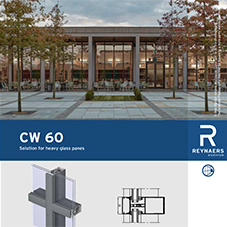 CW 60 Thermally improved Curtain Walling for large glass surfaces