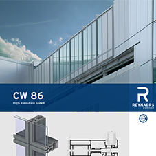 CW 86 unitised aluminium curtain wall