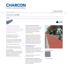 Cycle Kerb Tech Data Sheet