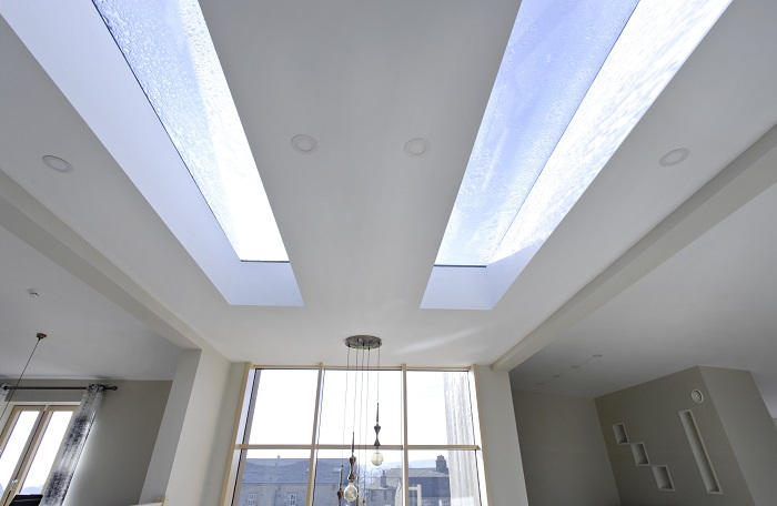 Fixed flat roof lights as seen on Grand Designs