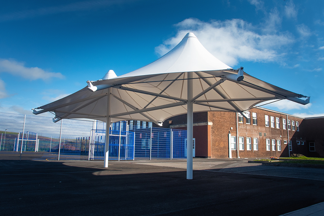 External works complement Tonypandy Middle school aesthetic