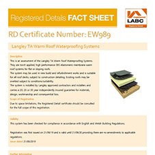 LABC Langley TA Warm Roof Waterproofing Systems Fact Sheet