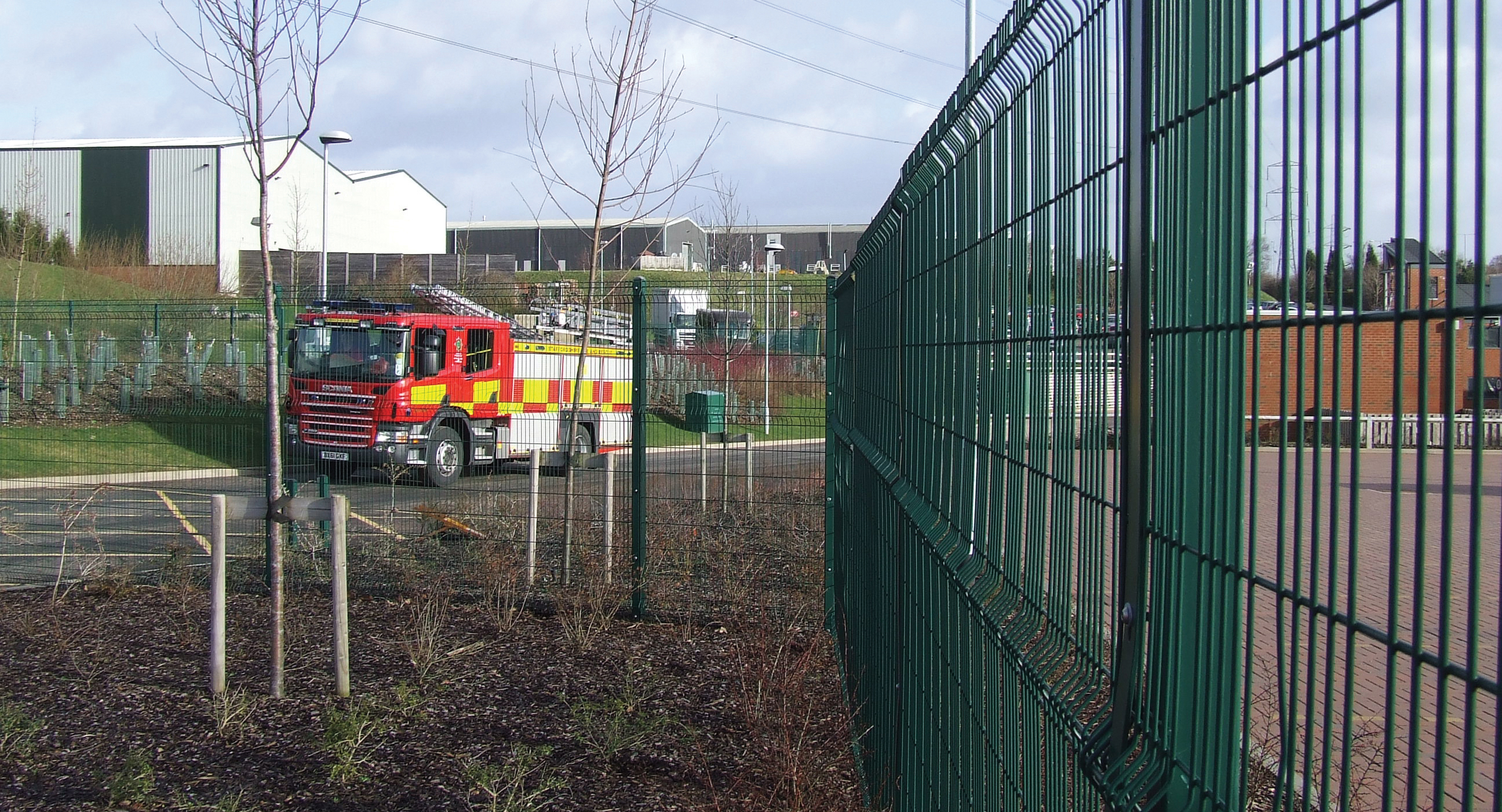 Security fences for Staffordshire Fire & Rescue