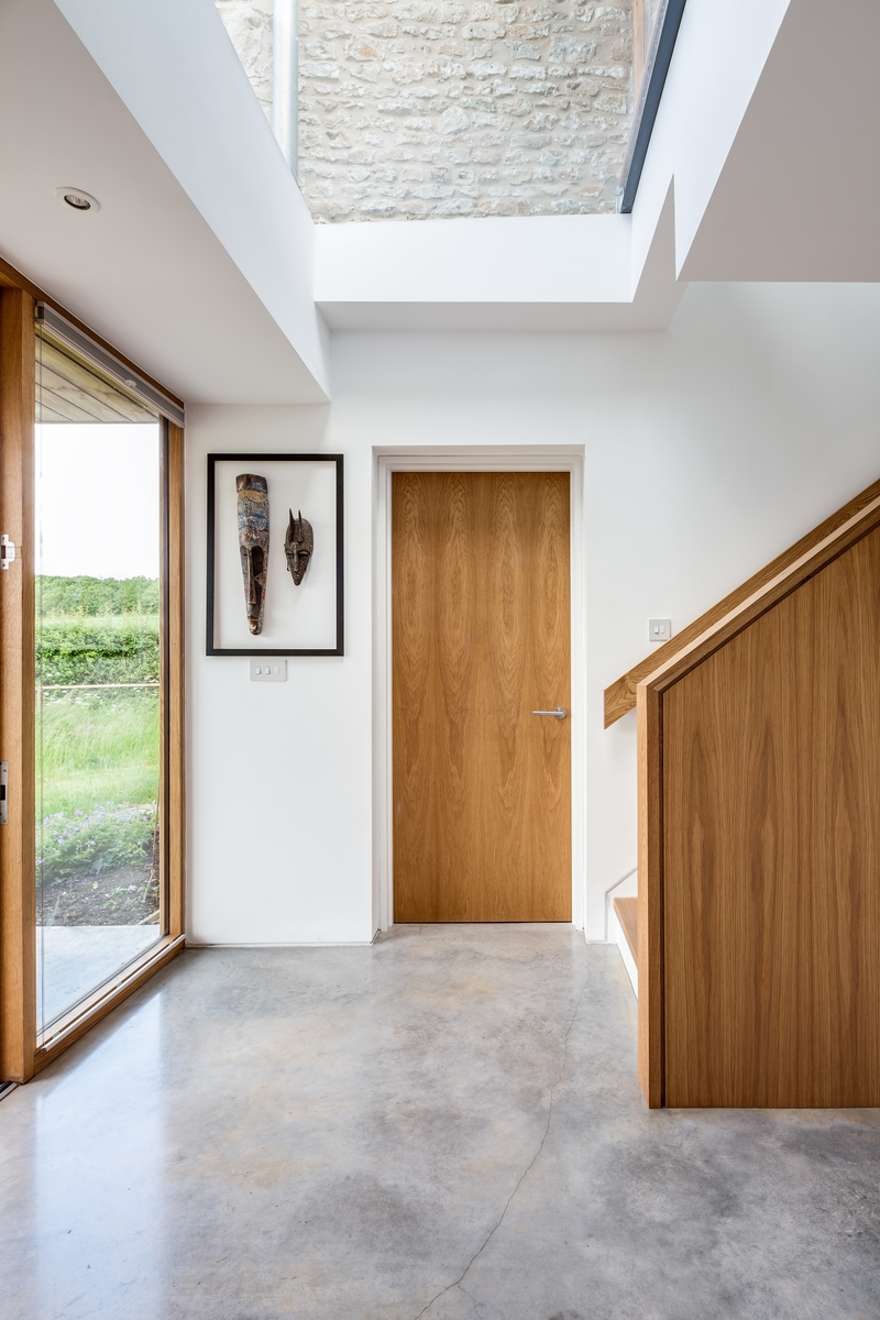 Cottage extension enhanced by a fixed rooflight