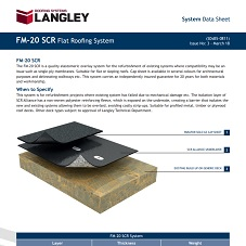 FM-20 SCR Flat Roofing System Data Sheet