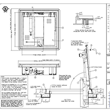 Fire Rated Floor Door Submittal Drawing