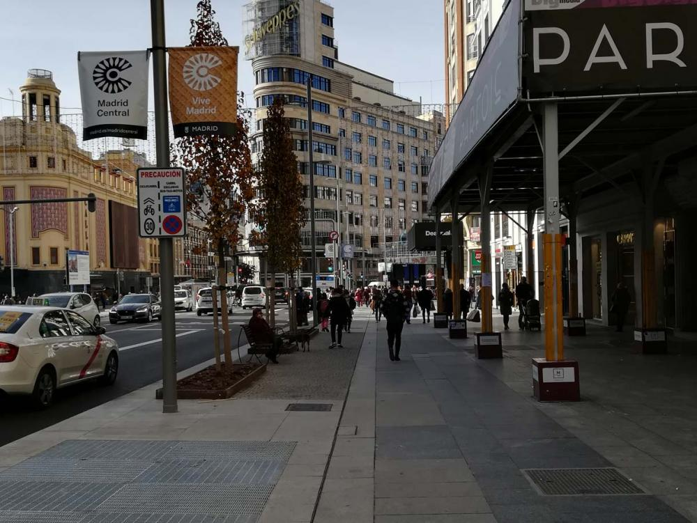 MultiV+ channel for the symbolic Gran Via street