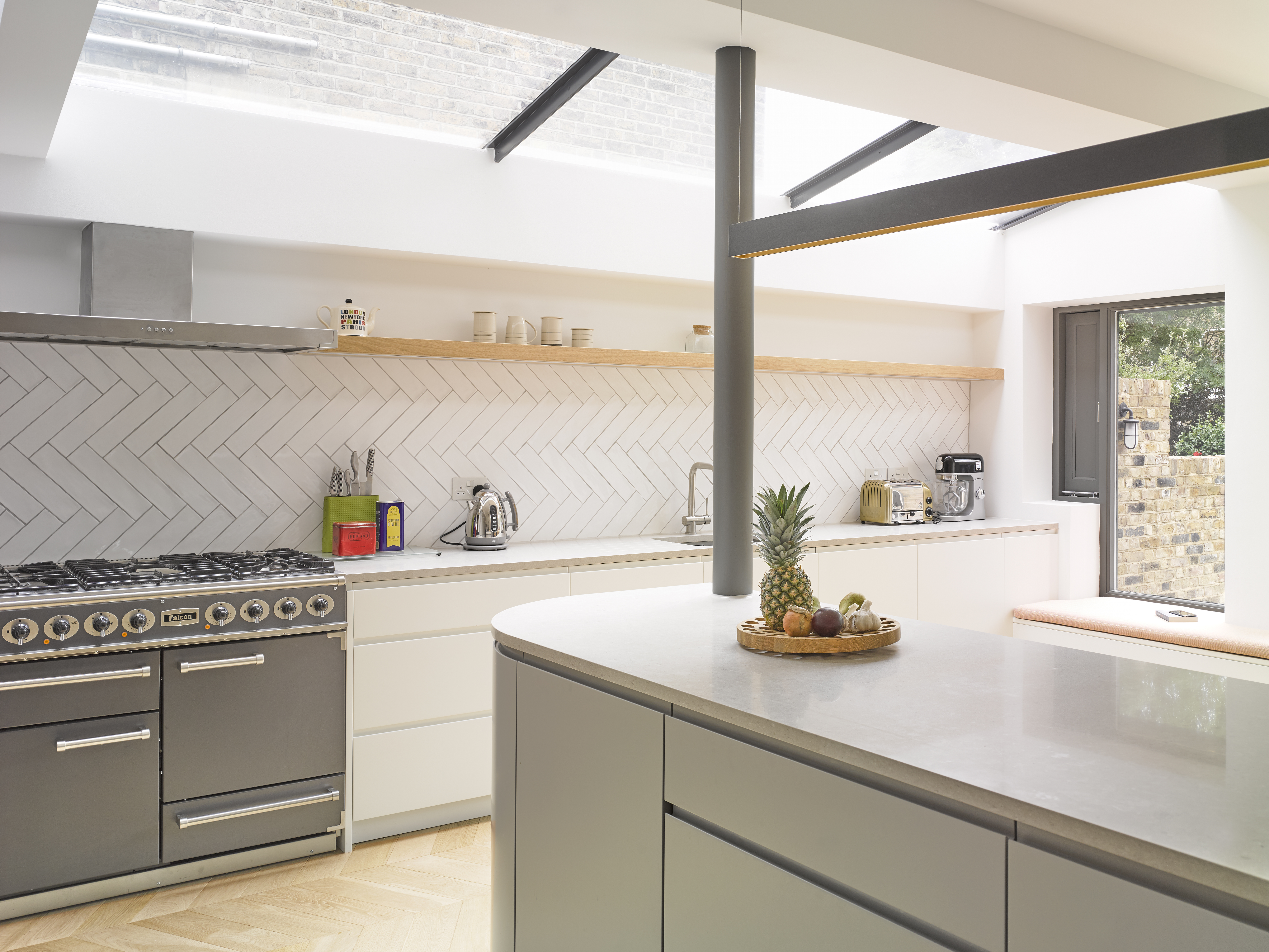 Fixed frameless rooflights for family kitchen renovation