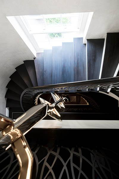 Feature helical staircase for London home