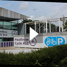 Heathrow Cyclehub by Cyclepods Ltd