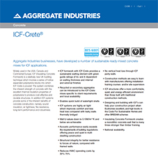 ICF-Crete™ Tech Data Sheet