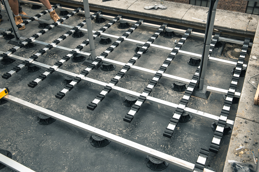 iDecking proves the ideal solution for flat roof in London