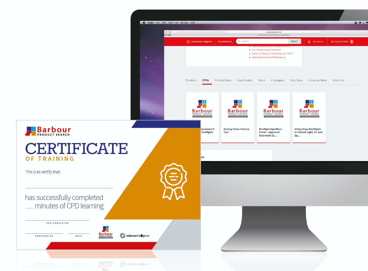 CPD certificate and computer screen