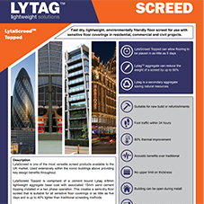 LytaScreed topped Tech Data Sheet