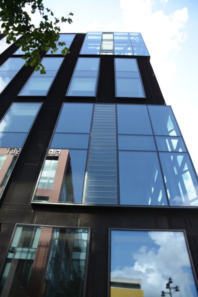 Fieger single-glazed louvre vents for 8 First Street in Manchester