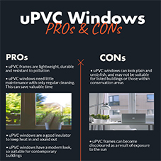 PROs & CONs of uPVC windows [INFOGRAPHIC]