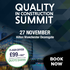 Special subscribers offer to the Quality in Construction summit 2018