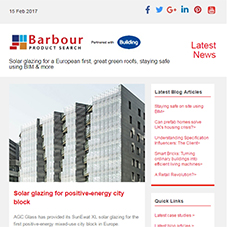 Solar glazing for a European first, great green roofs, staying safe using BIM & more
