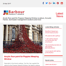 Acrylic floor paint for Poppies Weeping Window sculpture, Acoustic Panels, stormwater management solutions and more