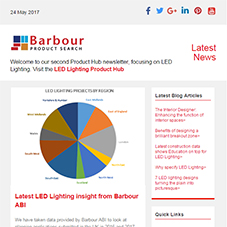 Focus on LED Lighting: feat latest insight from Barbour ABI, illuminating designs and more
