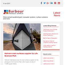 Fibre cement weatherboard, rainwater systems, surface solutions and more