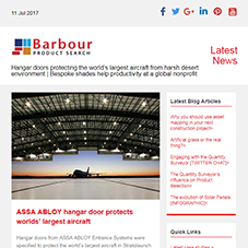 Hangar doors protect world's largest aircraft from harsh desert environment | Shades help productivity at global non-profit