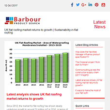 UK flat roofing market returns to growth | Sustainability in flat roofing