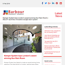 Kemper System tops London's award winning Sun Rain Room | ABLOY launches innovative escape door system